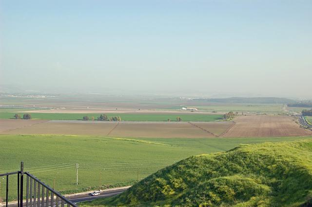 Tel Megiddo View Of Jezrael Valley